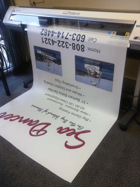 Large banner printing