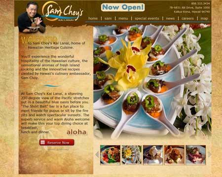 Custom restaurant website