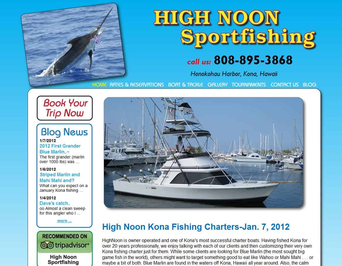 Kona fishing charter website