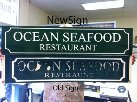Hanging PVC restaurant sign