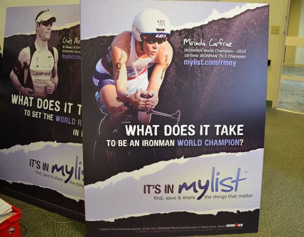 Mylist - Sponsor of Ironman World Championships
