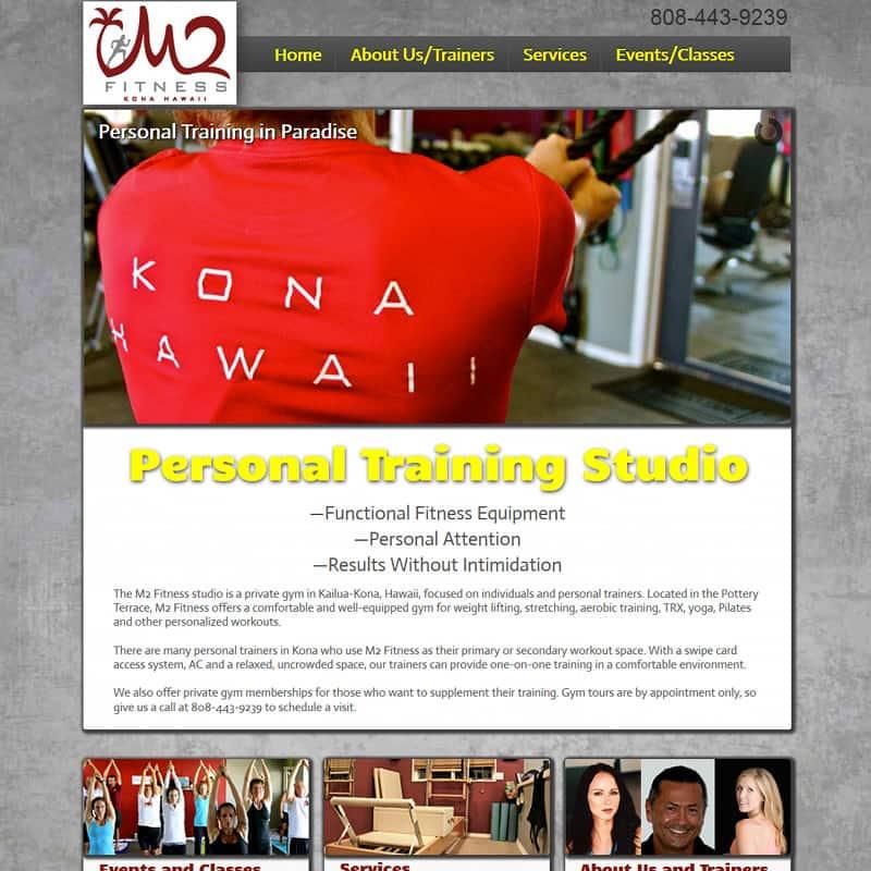 Custom fitness website