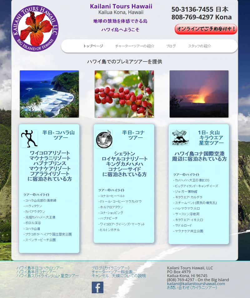 bilingual tourism website