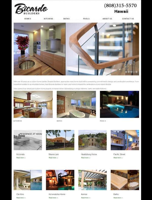 Builder showcase website
