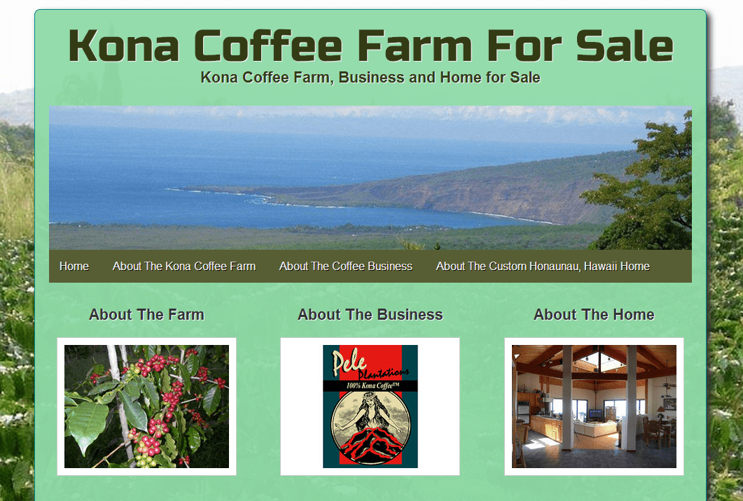 Kona Coffee Farm for Sale