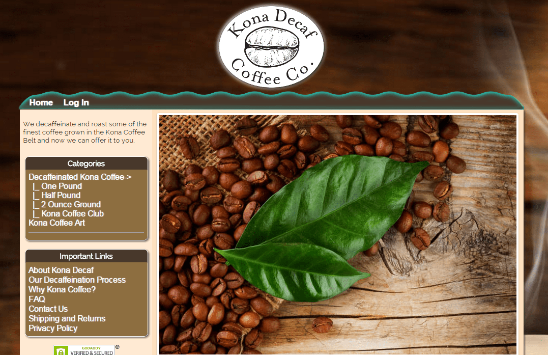 Custom e-commerce online coffee store