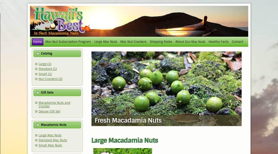Hawaii's Best Macnuts e-commerce online store