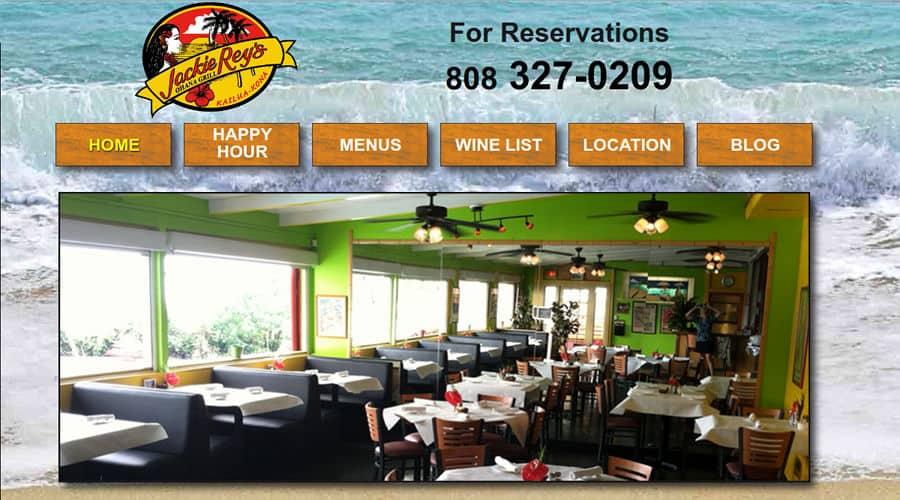 Jackie Rey's restaurant website