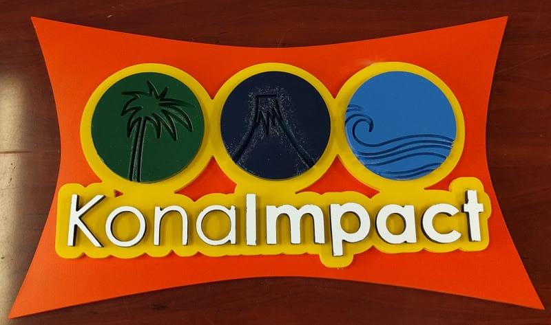 Multi-layer dimensional PVC logo