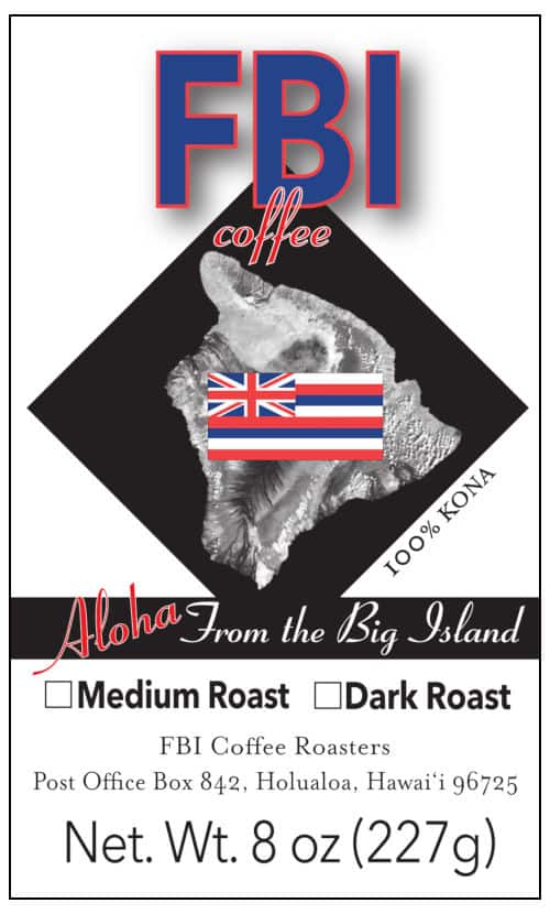 From Big Island Coffee Label