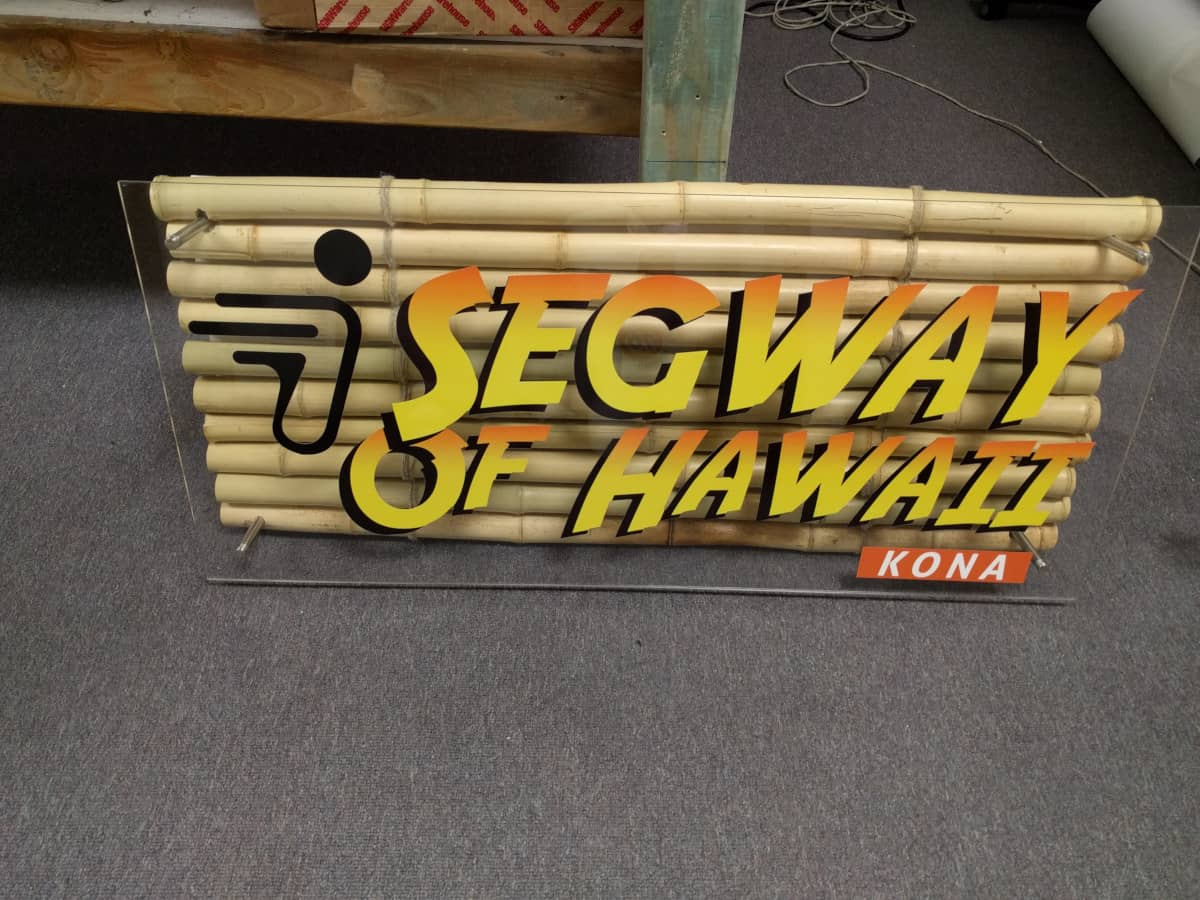 segway of hawaii bamboo sign closeup