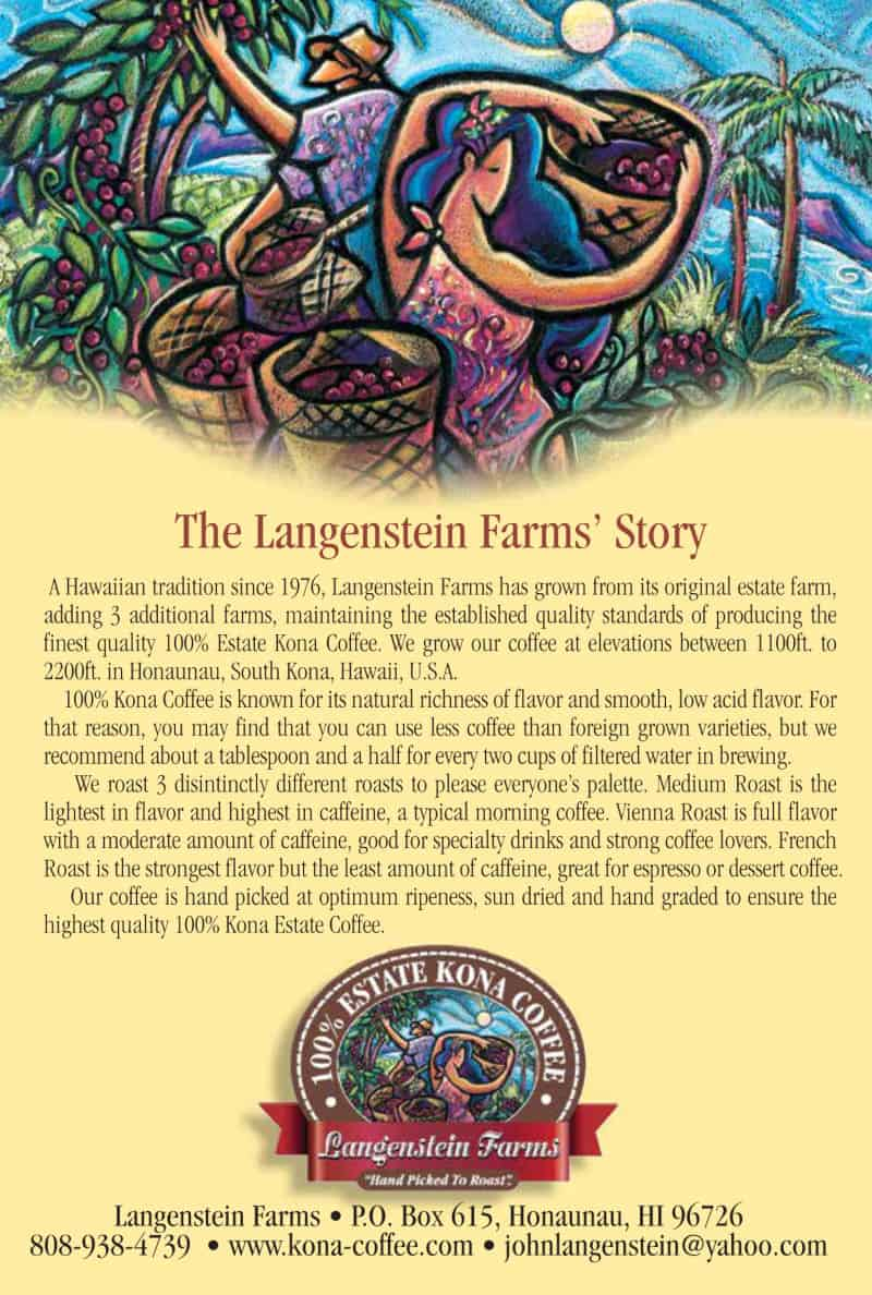langenstein farms coffee bag label