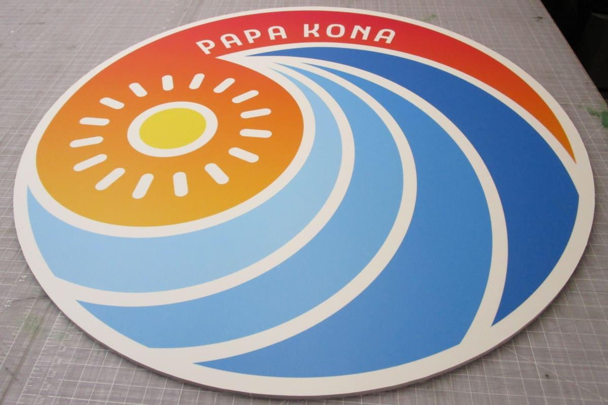 PVC Round CNC Sign