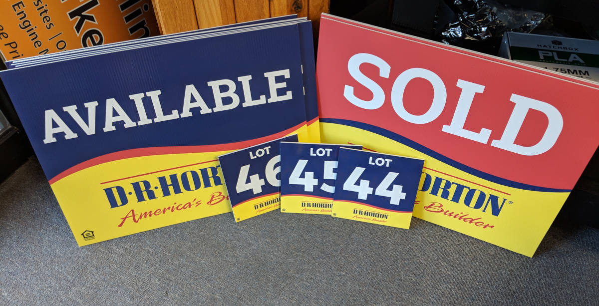 Coroplast Real Estate and Lot Signs